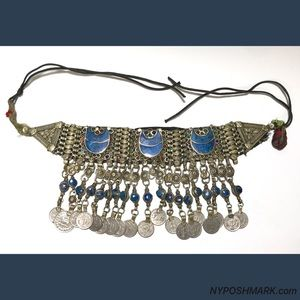 Jewelry - Gypsy Tribal Belly Dance Lapis Necklace 1970's